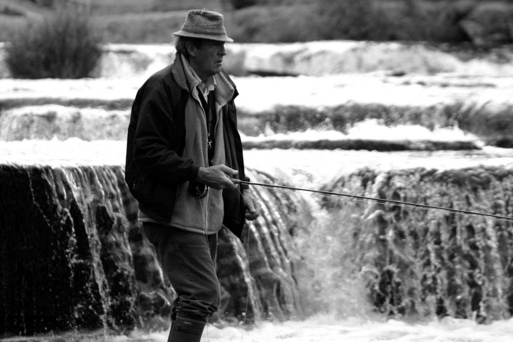 fotos de pesca en blanco y negro