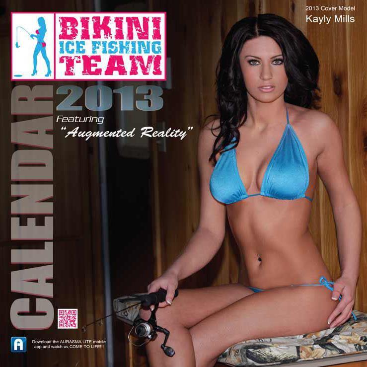 Bikini Ice Fishing Team, mujeres pesnado desnudas y en bikini, modelos pesca, chicas pescando