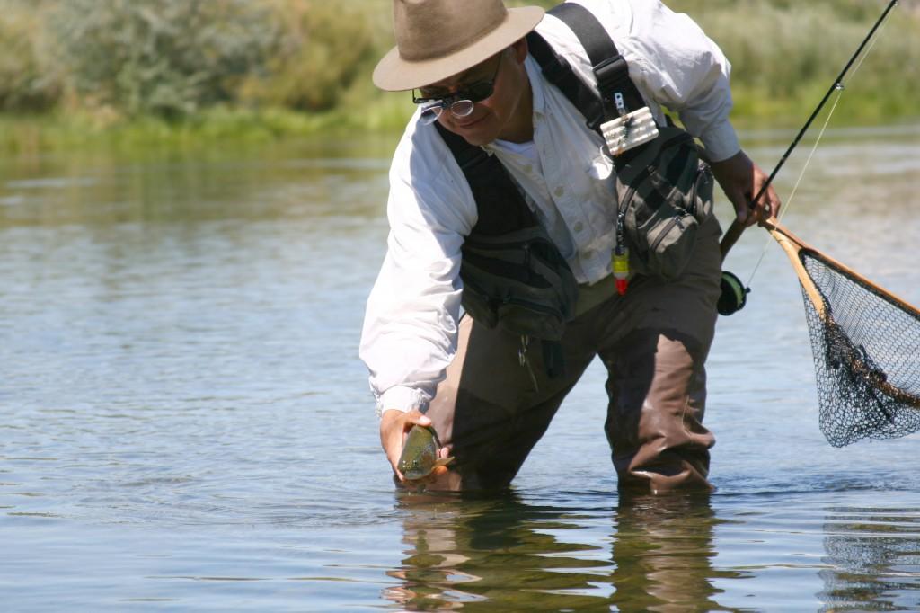 Pescador de trucha.