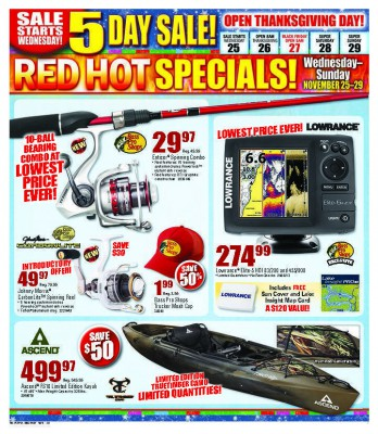 Five stores offering great fishing discounts on black friday for Black friday fishing deals