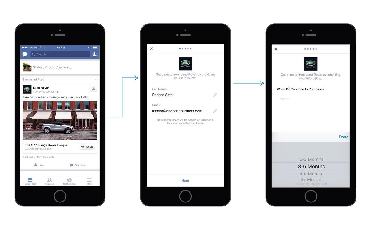 facebook leads, campaña, ejemplo, registros por Internet, vender más, clientes