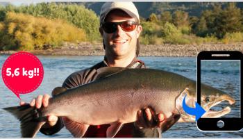 app para saber peso pez, calcular peso pez con app, foto calcula peso pez, pesca, FishFigure