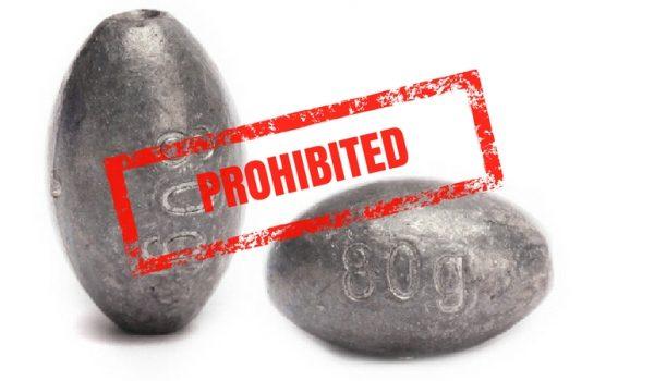 prohibición plomos de psca en Estados Unidos, toxicosis, pescar