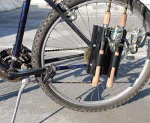 Bike Fisherman, llevar las cañas de pesca en la bicicleta, transportar cañas en bici, pesca, sistema llevar cañas en bicicleta, carry rods on bike
