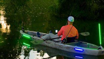 luces kayak, Yak Power, pesca, bas fishing