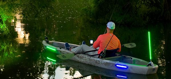 luces kayak, Yak Power, pesca, bas fishing