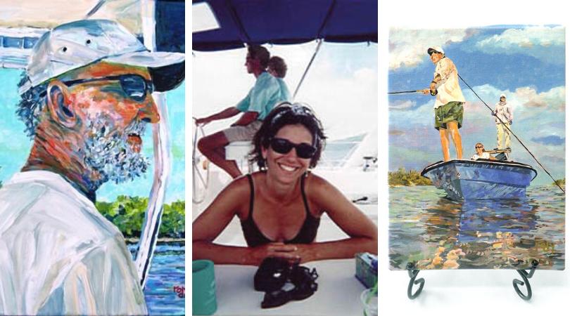 Kim Rody, cosas chulas de pesca, pinturas, vajillas