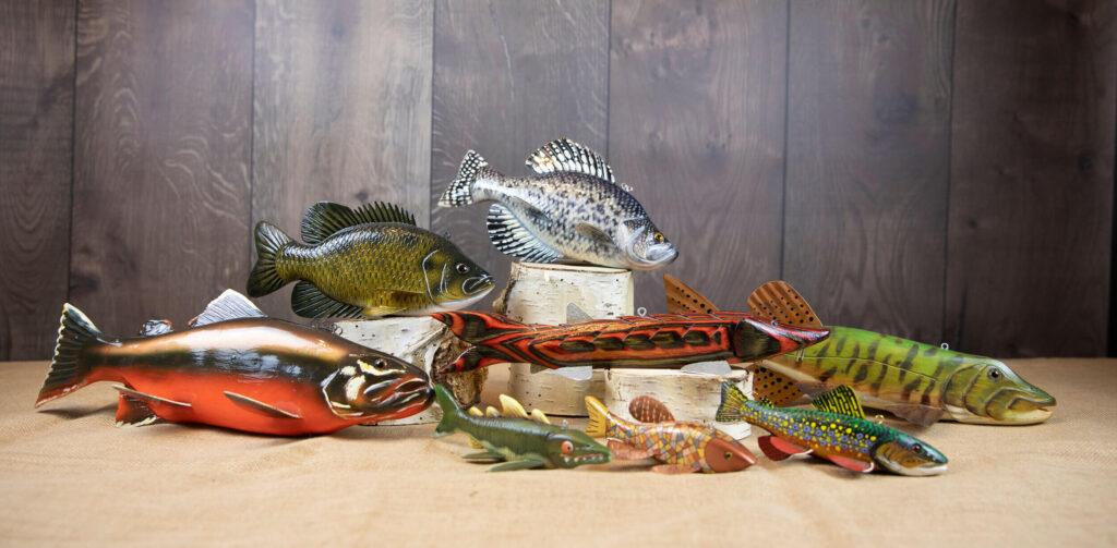 talla peces, madera