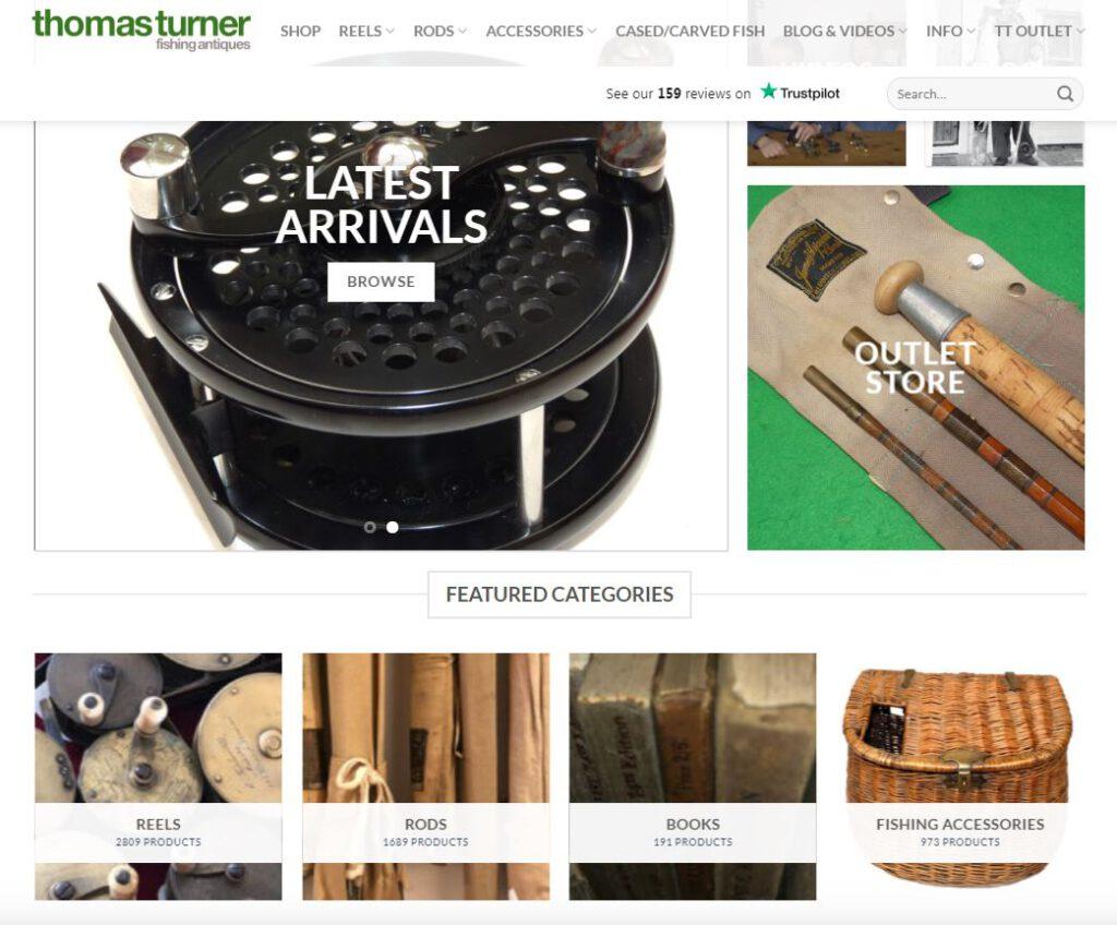 La tienda online de coleccionismo de pesca Thomas Turner