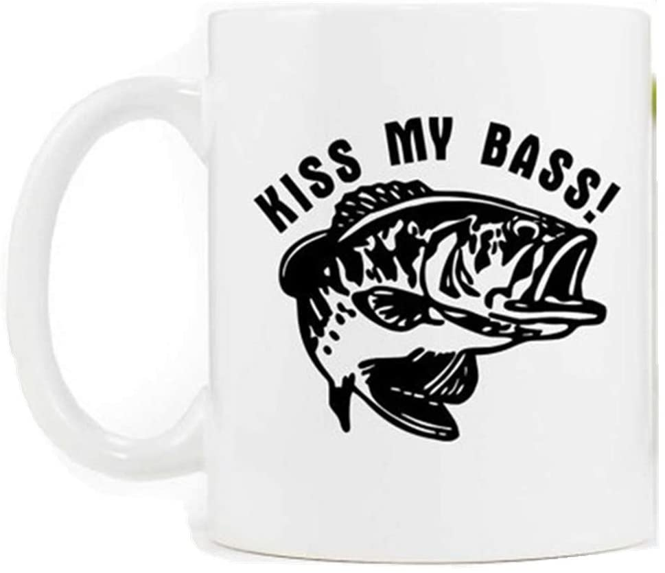 Taza de café de pesca divertida, Kiss My Bass