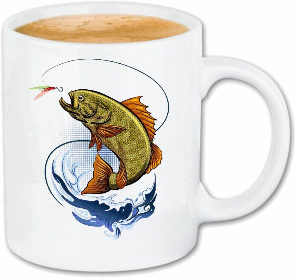 Taza para café Pesca de la trucha ROD CARP