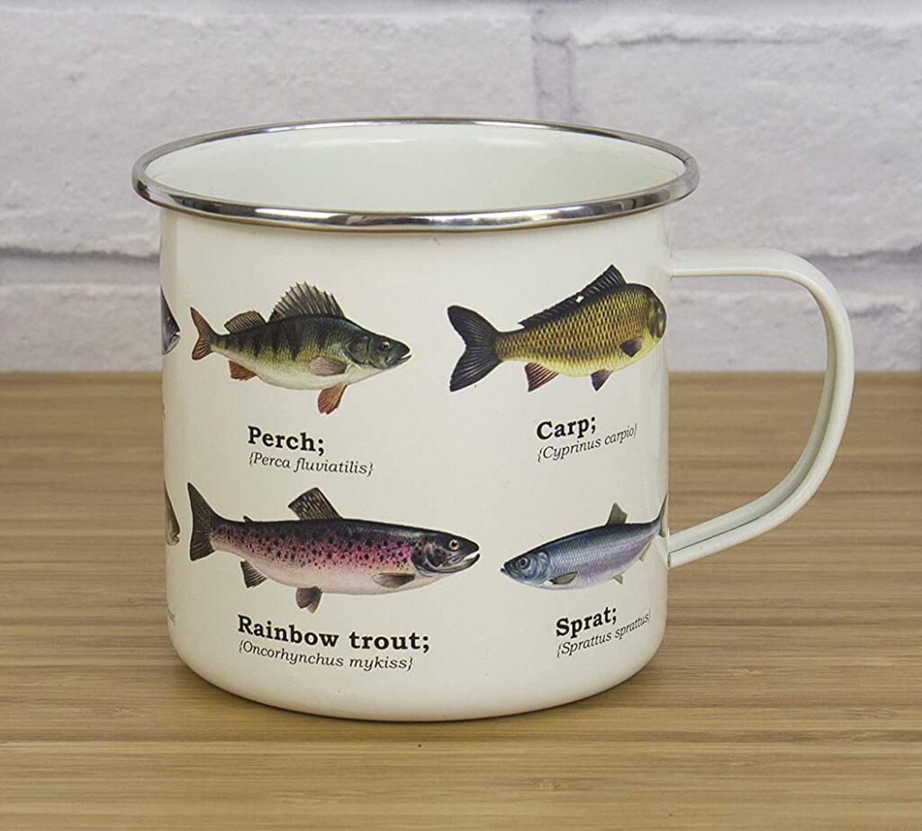 Ecologie, taza esmaltada con diseño de Peces, Amazon, comprar